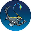 Vector clipart: Deep-sea angler