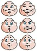 Vector clipart: Emotions