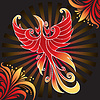 Vector clipart: Amazing firebird
