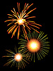 Vector clipart: Fireworks in the night sky