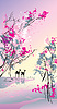 Vector clipart: Four seasons - spring