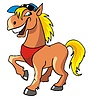 Vector clipart: Laughing horse