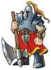 Vector clipart: Knight with an axe