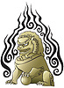 Vector clipart: Chinese lion