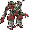 Vector clipart: Mech warrior