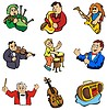 Vector clipart: Music