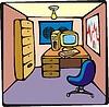 Vector clipart: Cartoon Office
