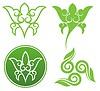 Vector clipart: Floral ornaments