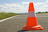 Cone on road | Stock Foto