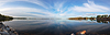 Panorama over Blue Lake and Sky | Stock Foto