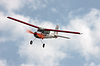 RC model airplane flying in blue sky | Stock Foto