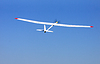 RC glider flying in blue sky | Stock Foto