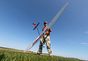 Man holds RC glider | Stock Foto