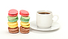 Photo 300 DPI: Colorful Macaroon and cup of coffee