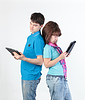 A young couple with Tablet PC | Stock Foto