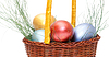 ID 3299325 | Colorful painted easter eggs in basket | High resolution stock photo | CLIPARTO