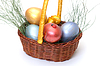 ID 3299326 | Colorful painted easter eggs in basket | High resolution stock photo | CLIPARTO