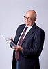 Portrait of successful senior man with book | Stock Foto