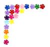 Photo 300 DPI: corner of colorful beads