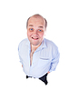 ID 3370119 | Happy Fat Man in Blue Shirt, wide-angle top view | High resolution stock photo | CLIPARTO