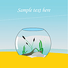 Aquarium auf See, im Sand | Stock Vektrografik