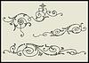 Vector clipart: Set of three calligraphic design elements