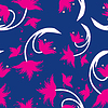 Розовые цветы - бесшовные модели | Векторный клипарт