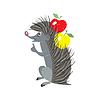 Vector clipart: Funny cartoon hedgehog