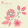 Vector clipart: Floral background