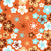 Vector clipart: leaves and flowers - seamless pattern