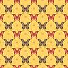 Бабочка - бесшовные модели | Векторный клипарт