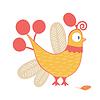 Vector clipart: Cartoon chicken