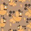 Vector clipart: Bird - seamless pattern