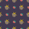 Vector clipart: Gifts - seamless pattern