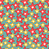 Vector clipart: Colorful flowers - seamless pattern