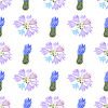 Vector clipart: Flowers - seamless pattern