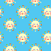 Vector clipart: Sun - seamless pattern