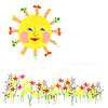 Sun and flowers | Stock Vector Graphics