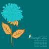 Vector clipart: Flower background