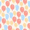 Vector clipart: Air balloons - seamless pattern