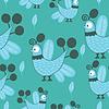 Vector clipart: Birds - seamless pattern