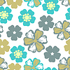 Vector clipart: Floral seamless pattern