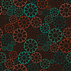 Vector clipart: Decorative flowers - seamless pattern