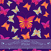 Vector clipart: Card with butterfly