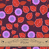 Vector clipart: Card with flowers