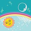 Vector clipart: Sun and moon