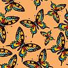 Фото 300 DPI: бабочка - бесшовные модели