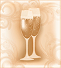 Vector clipart: Wedding champagne