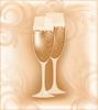 Векторный клипарт: Свадебное шампанское