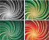 Набор четыре фонов с элементами покер